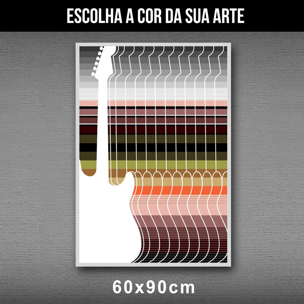 Poster/Quadro Guitar Stripes