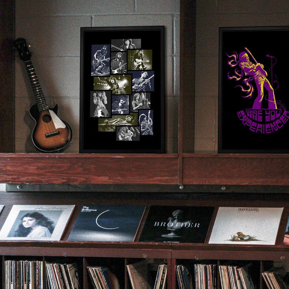 Poster/Quadro Guitarristas