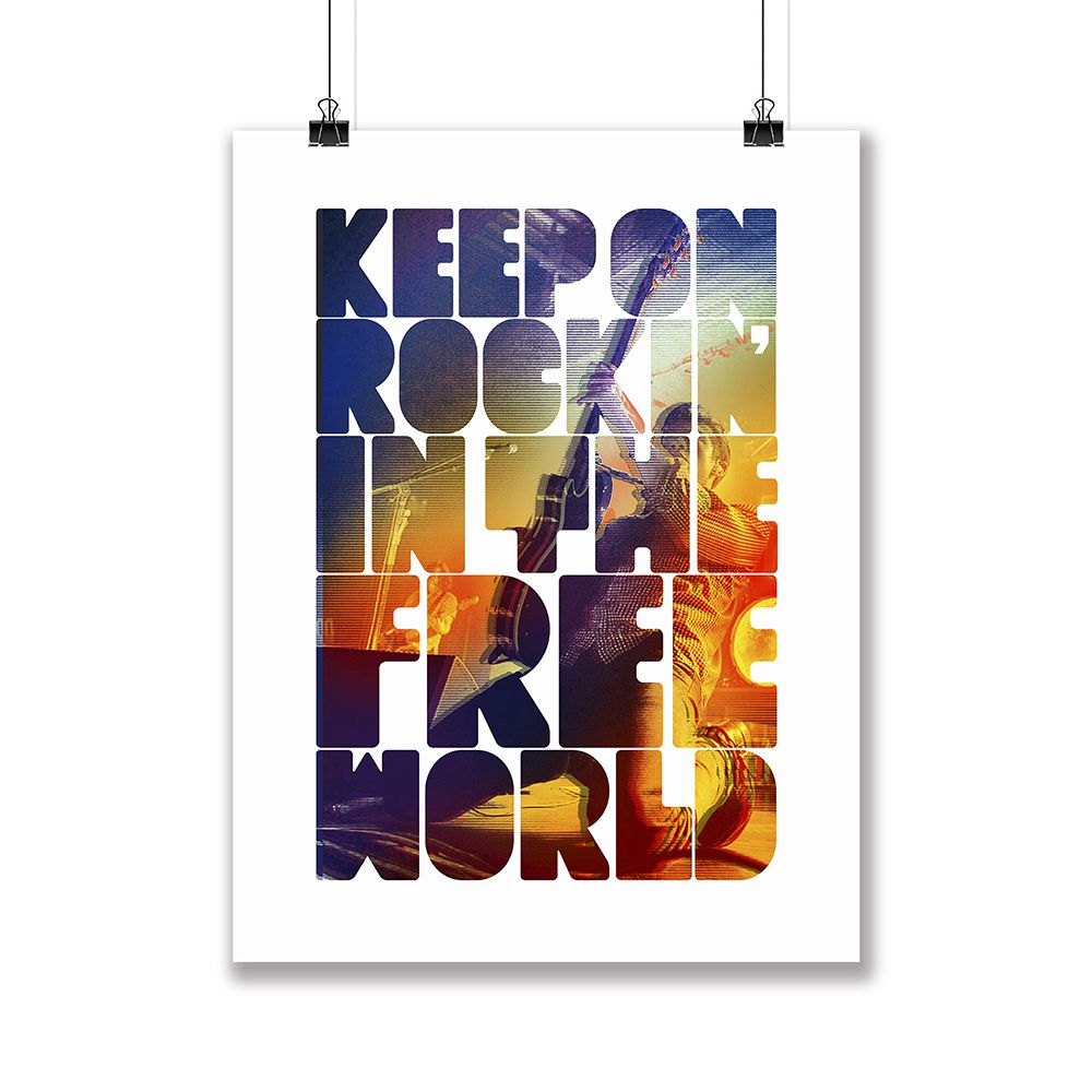 Poster/Quadro Keep On Rockin'