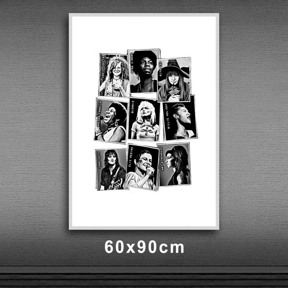 Poster/Quadro Mulheres da Música