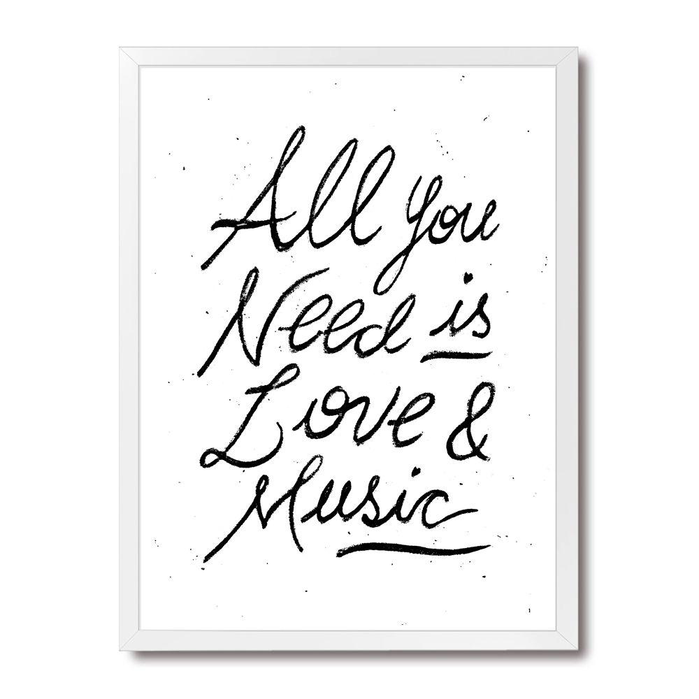 Poster/Quadro Love & Music