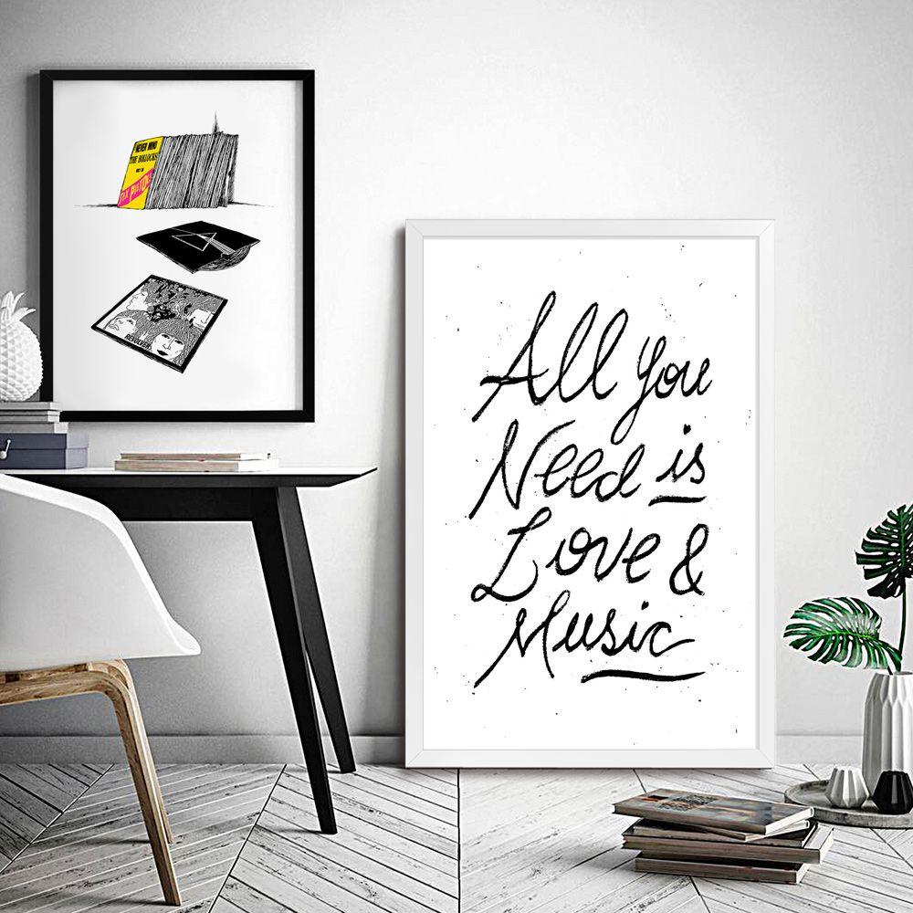 Poster/Quadro Music & Love
