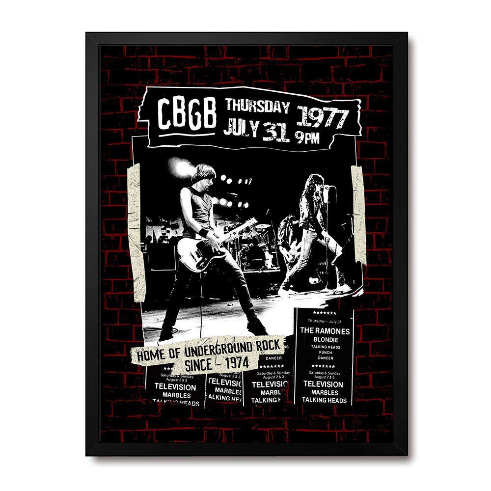 Poster/Quadro Ramones CBGB