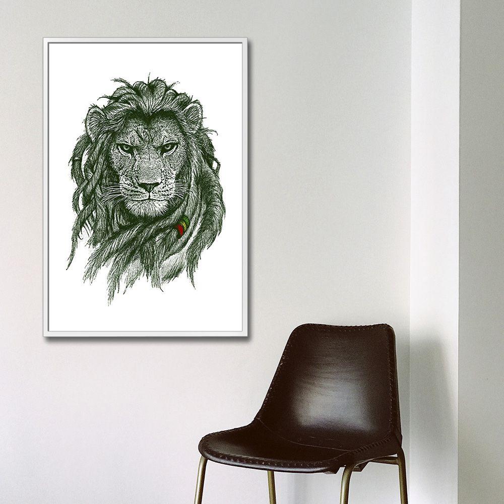 Poster/Quadro Rasta Lion
