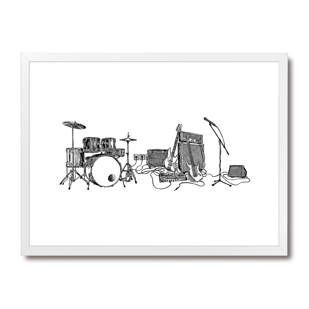 Poster/Quadro Rock Draft