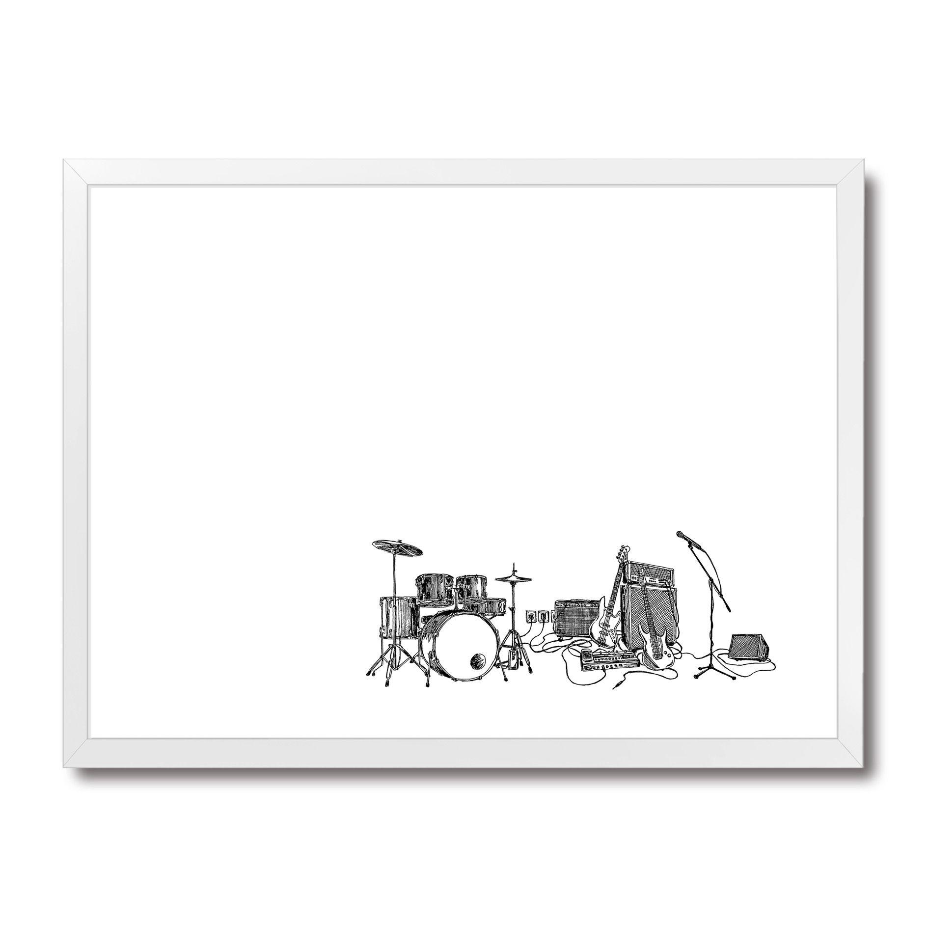 Poster/Quadro Rock Draft Minimal