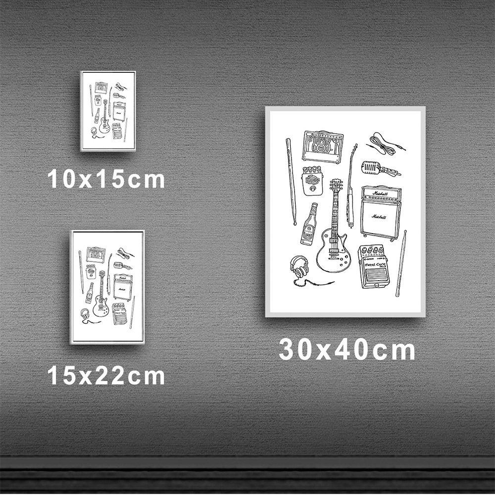 Poster/Quadro Rock Instruments Branco