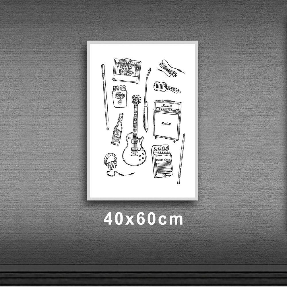 Poster/Quadro Rock Instruments BR