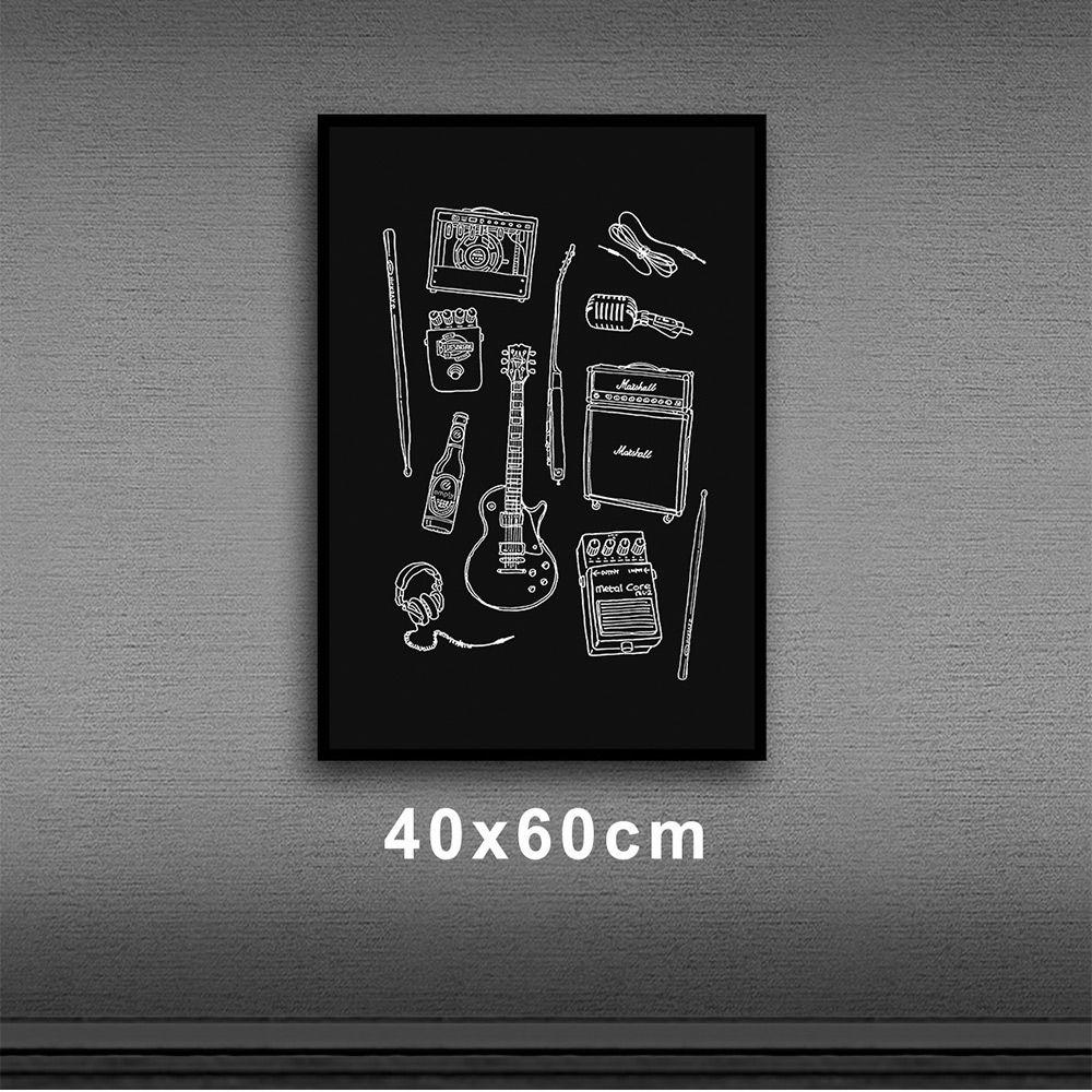 Poster/Quadro Rock Instruments PT