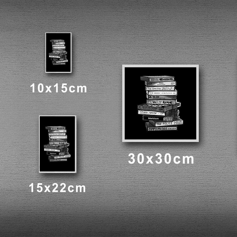 Poster/Quadro Tapes Preto