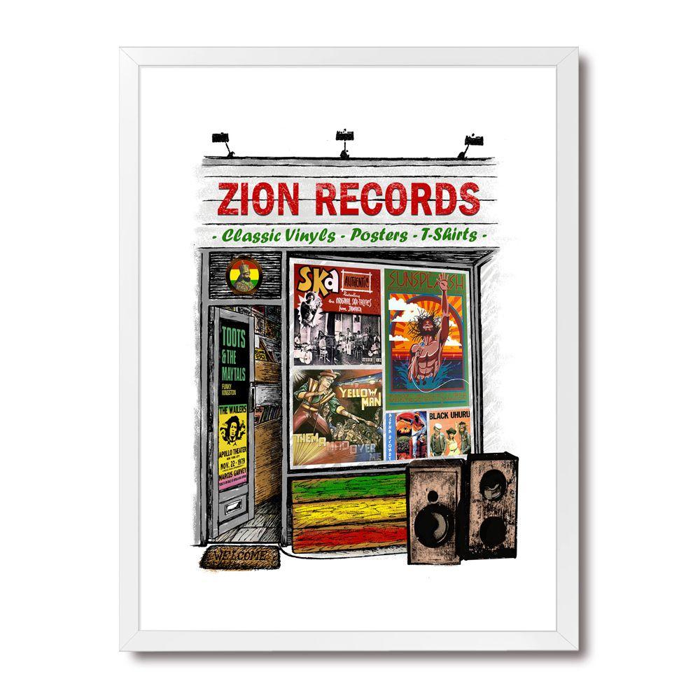 Poster/Quadro Zion Records