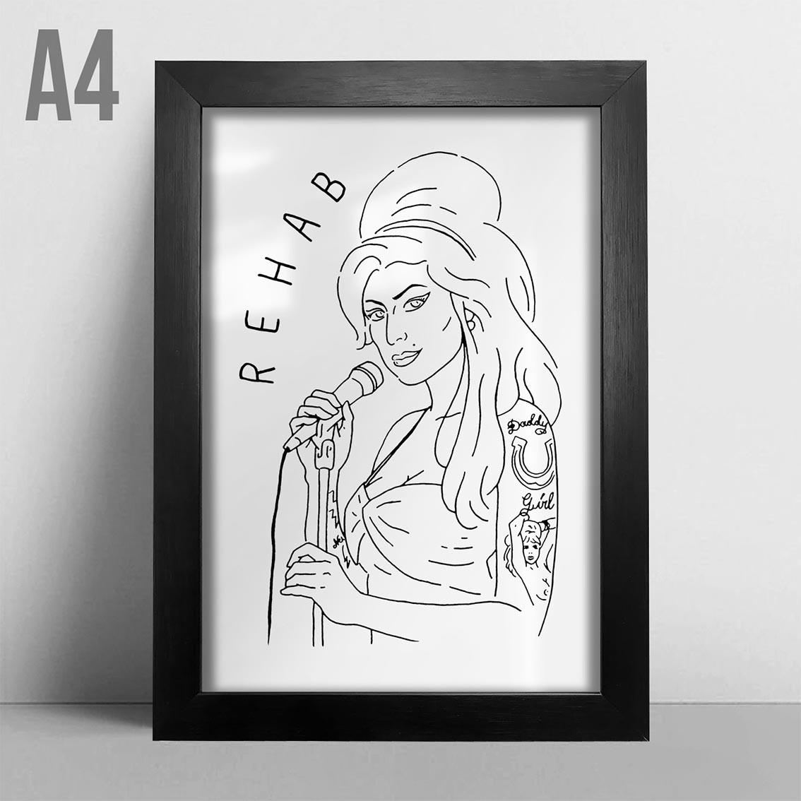 Quadro A4 - Amy Winehouse BR