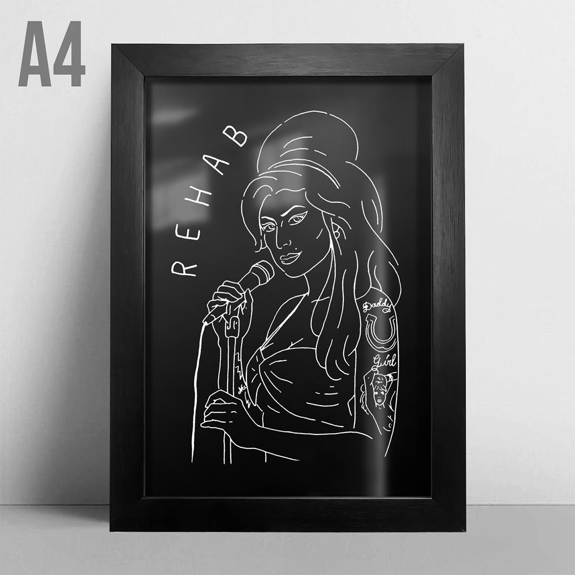 Quadro A4 - Amy Winehouse PT