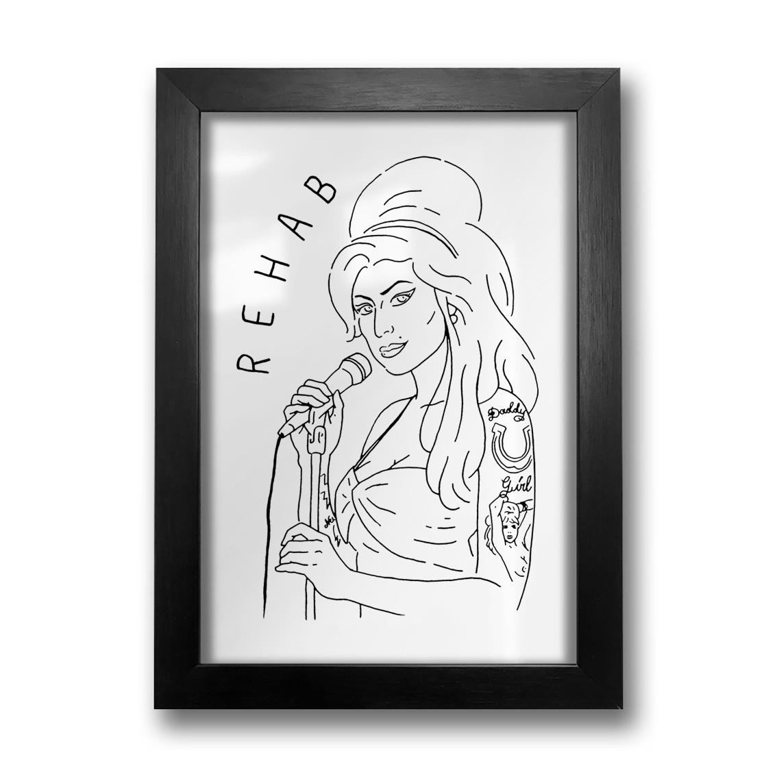 Quadro Amy Winehouse PT
