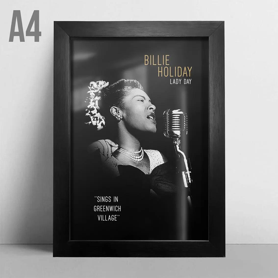 Quadro A4 - Billie Holiday