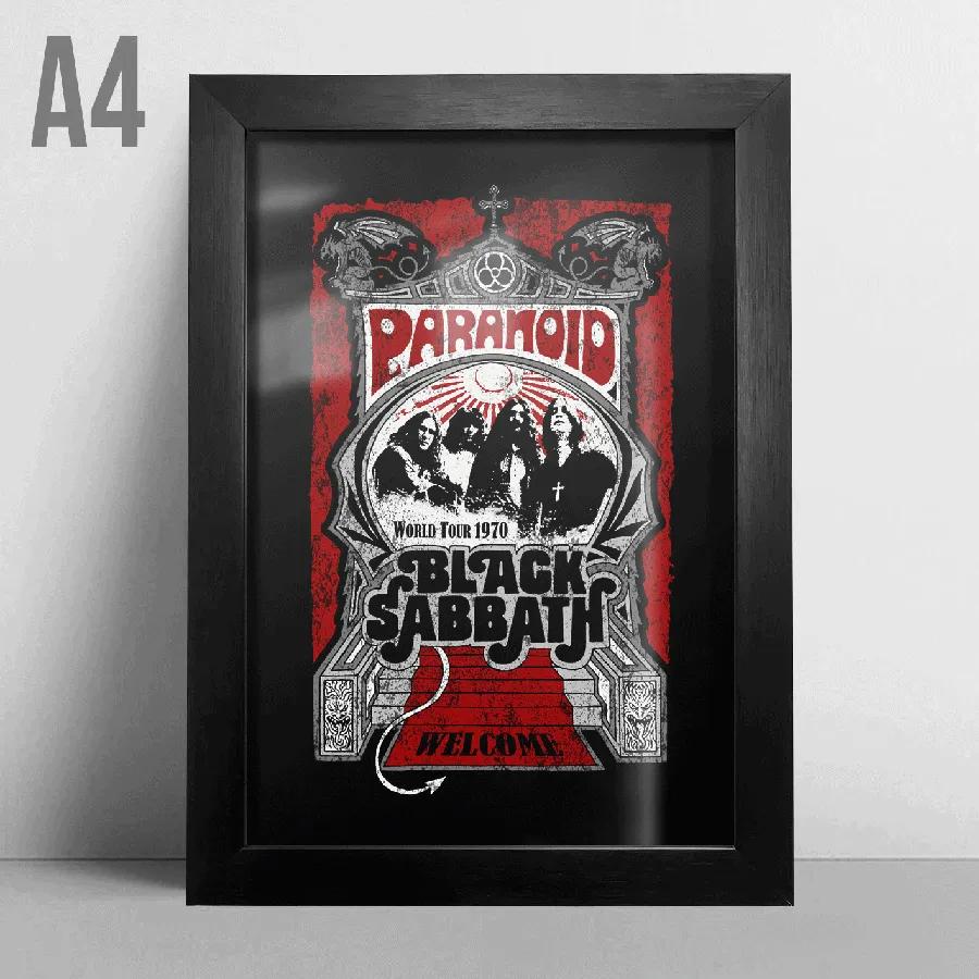 Quadro A4 - Black Sabbath