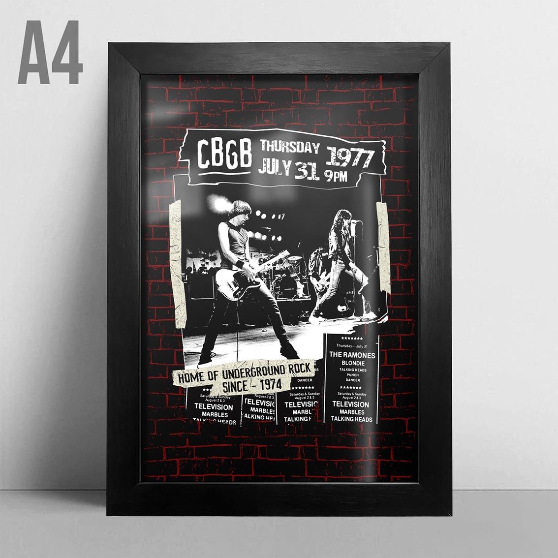 Quadro A4 - CBGB