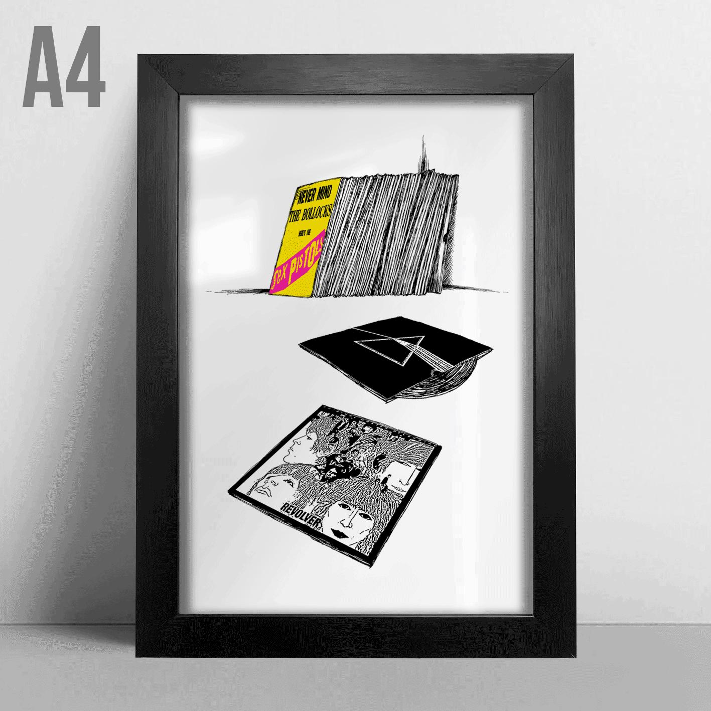 Quadro A4 - Classic Vinyls