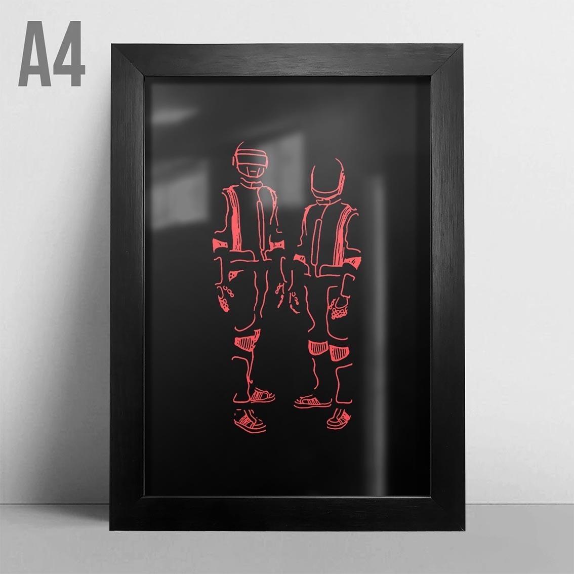 Quadro A4 - Daft Punk