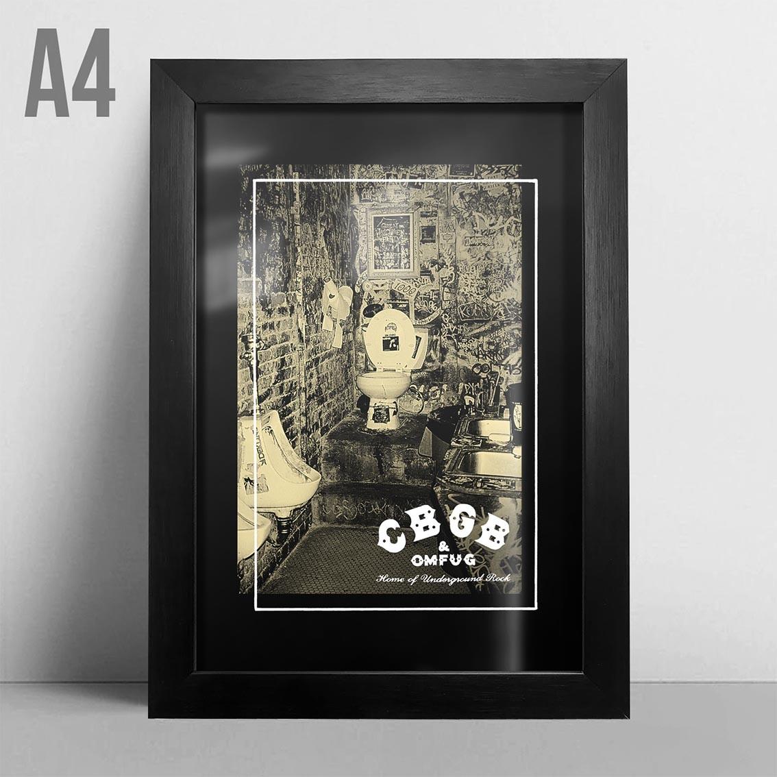 Quadro A4 - Dirty CBGB