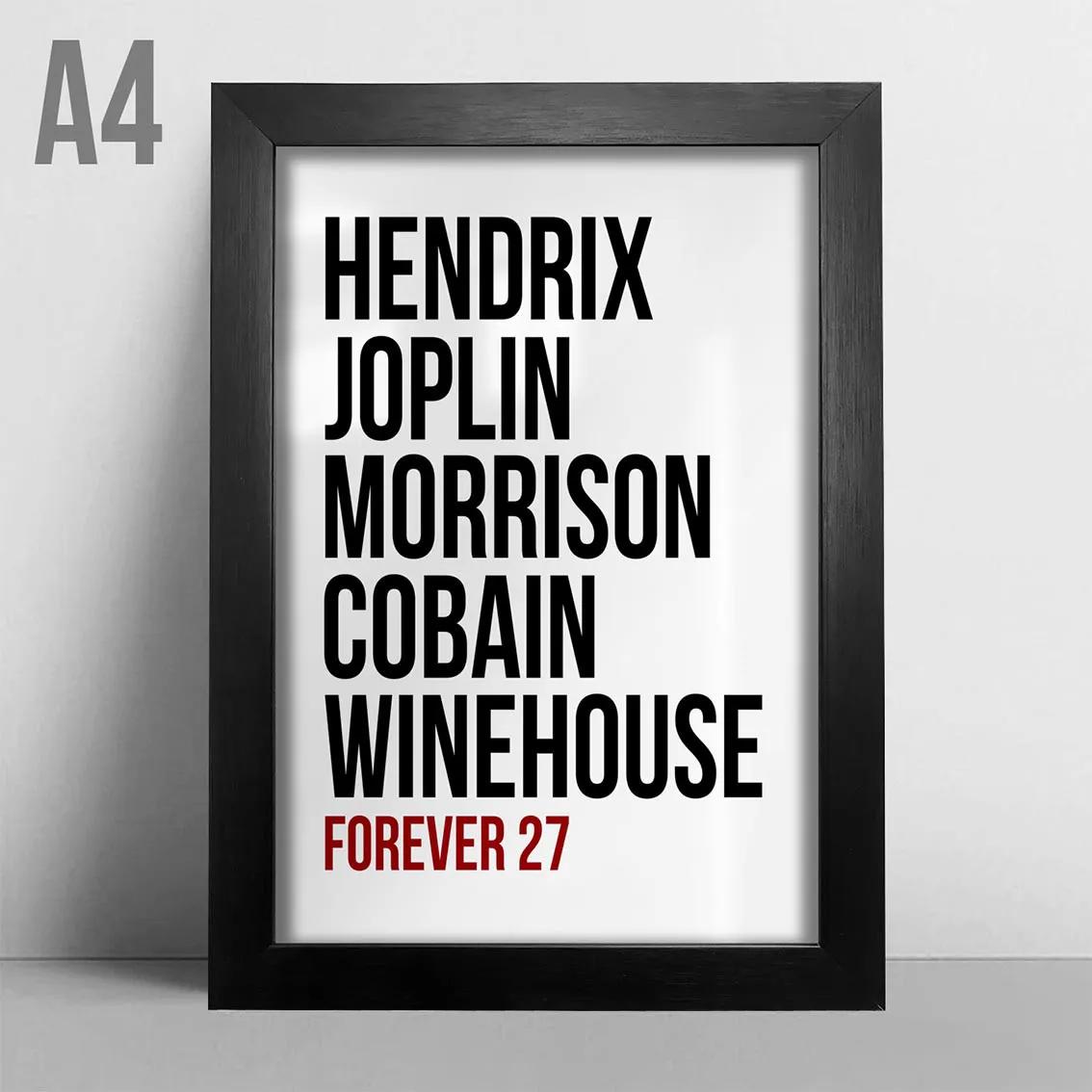 Quadro A4 - Forever 27 BR