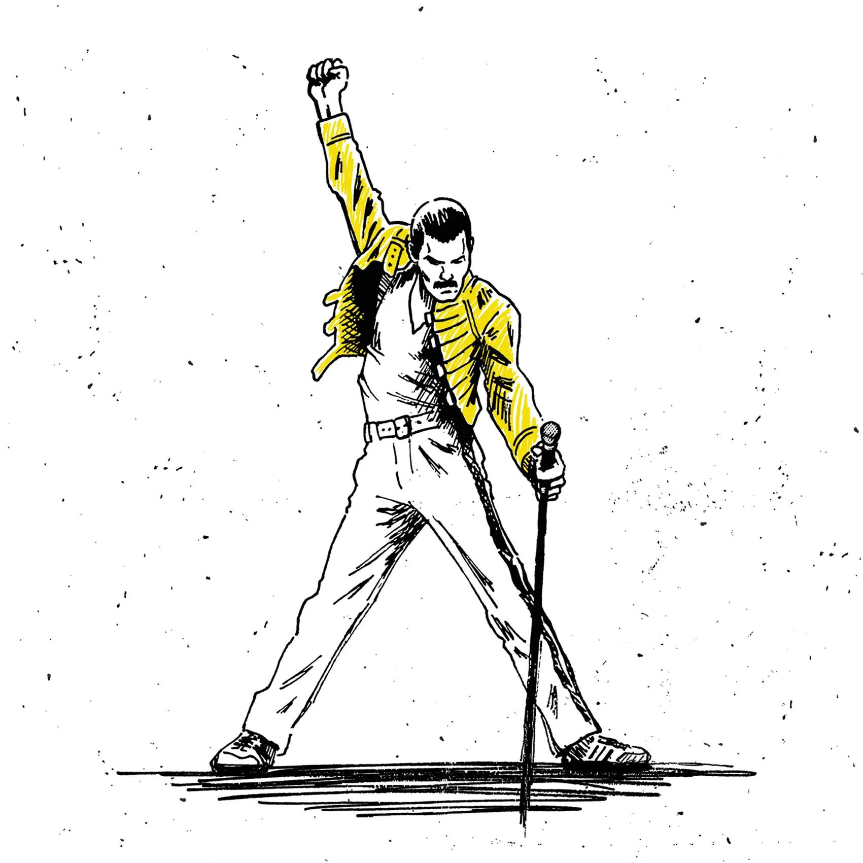 Quadro A4 - Freddie Mercury