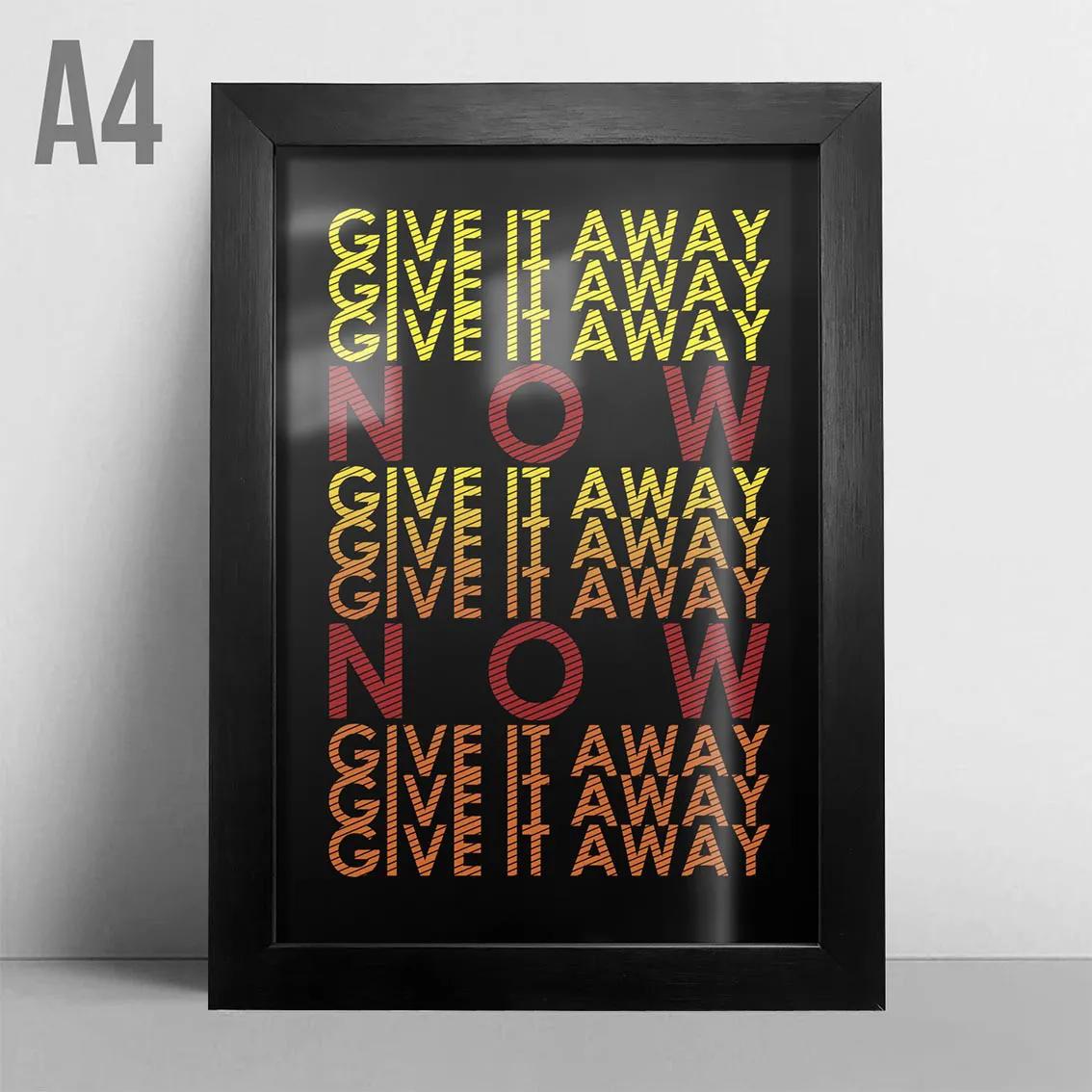 Quadro A4 - Give it Away