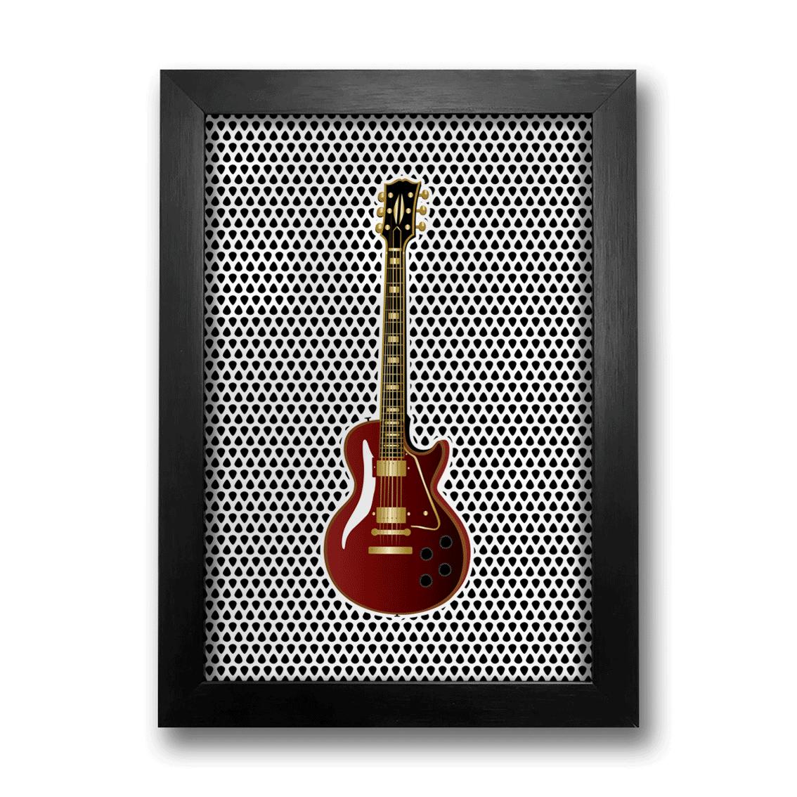Quadro Guitarra Vermelha