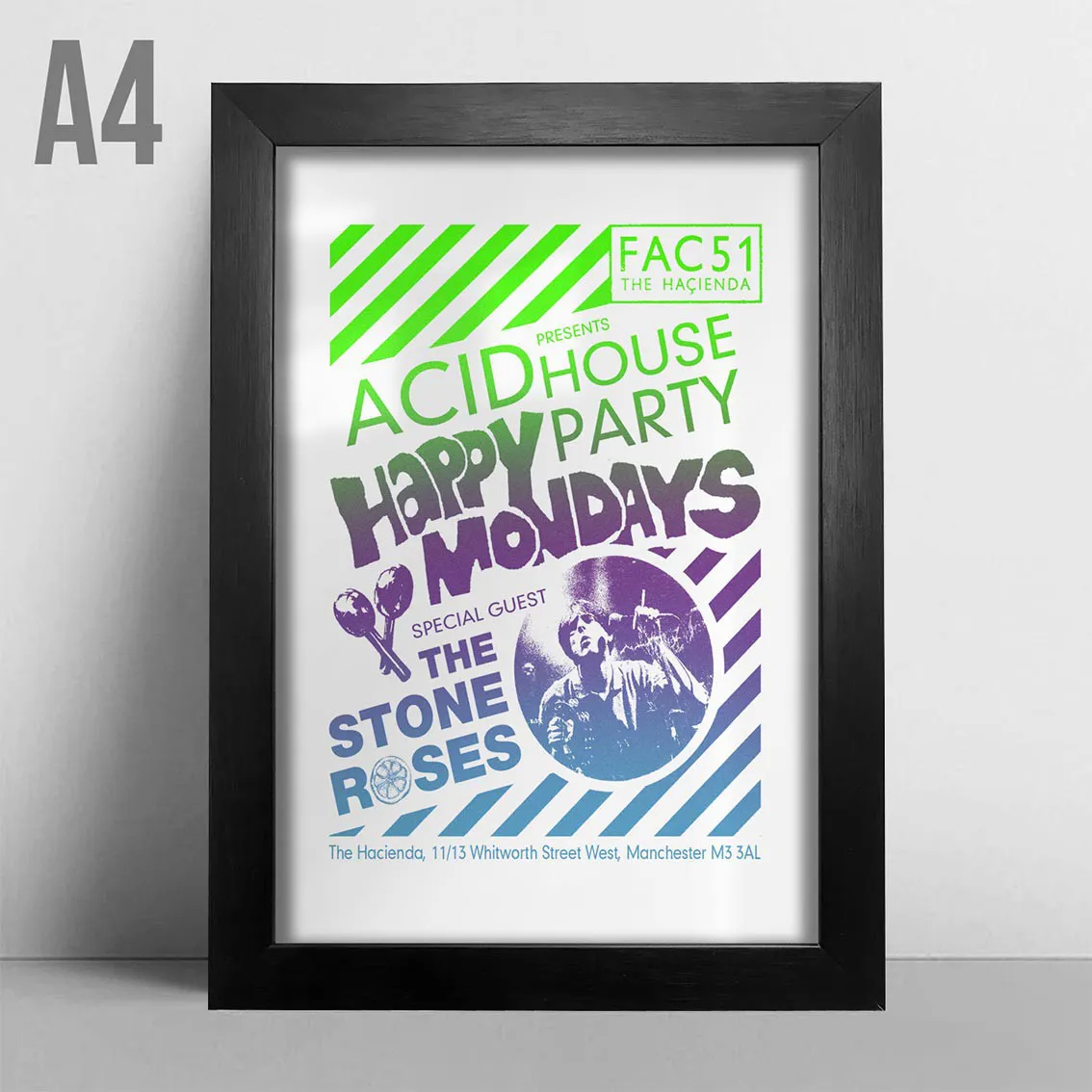 Quadro A4 - Happy Mondays