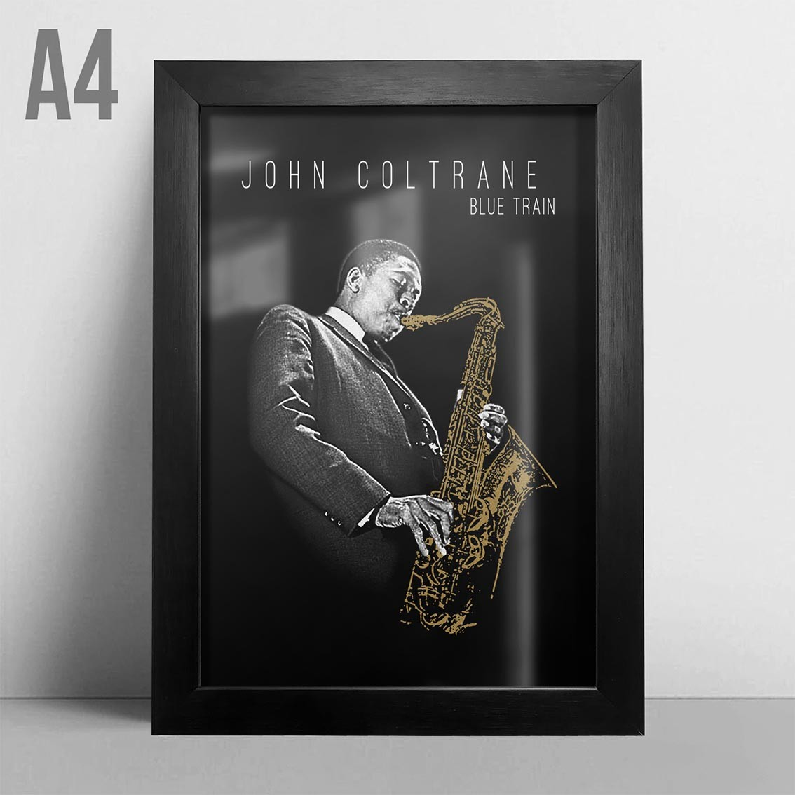Quadro A4 - John Coltrane