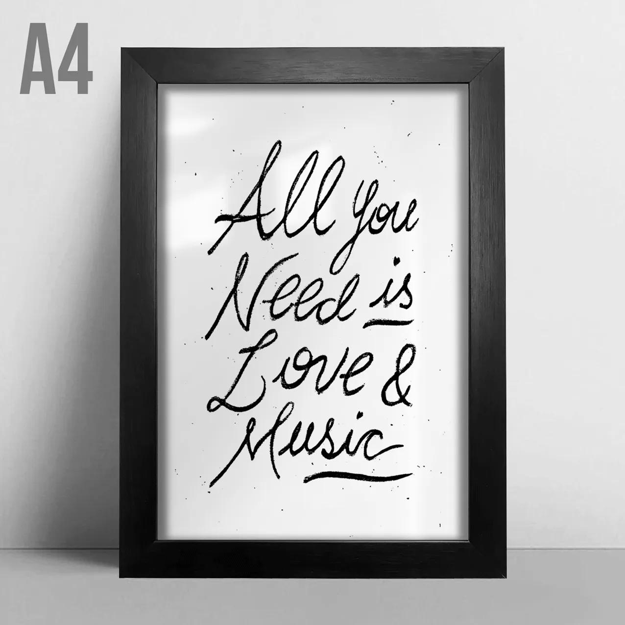 Quadro A4 - Love & Music
