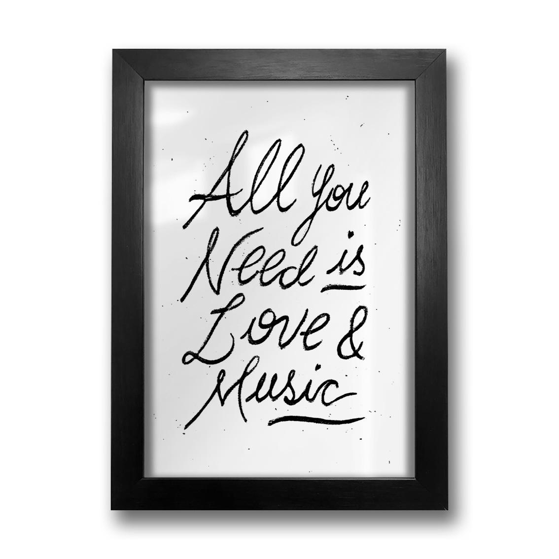 Quadro Love & Music