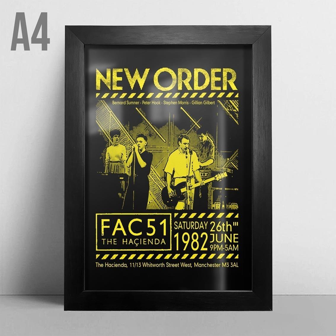 Quadro A4 - New Order