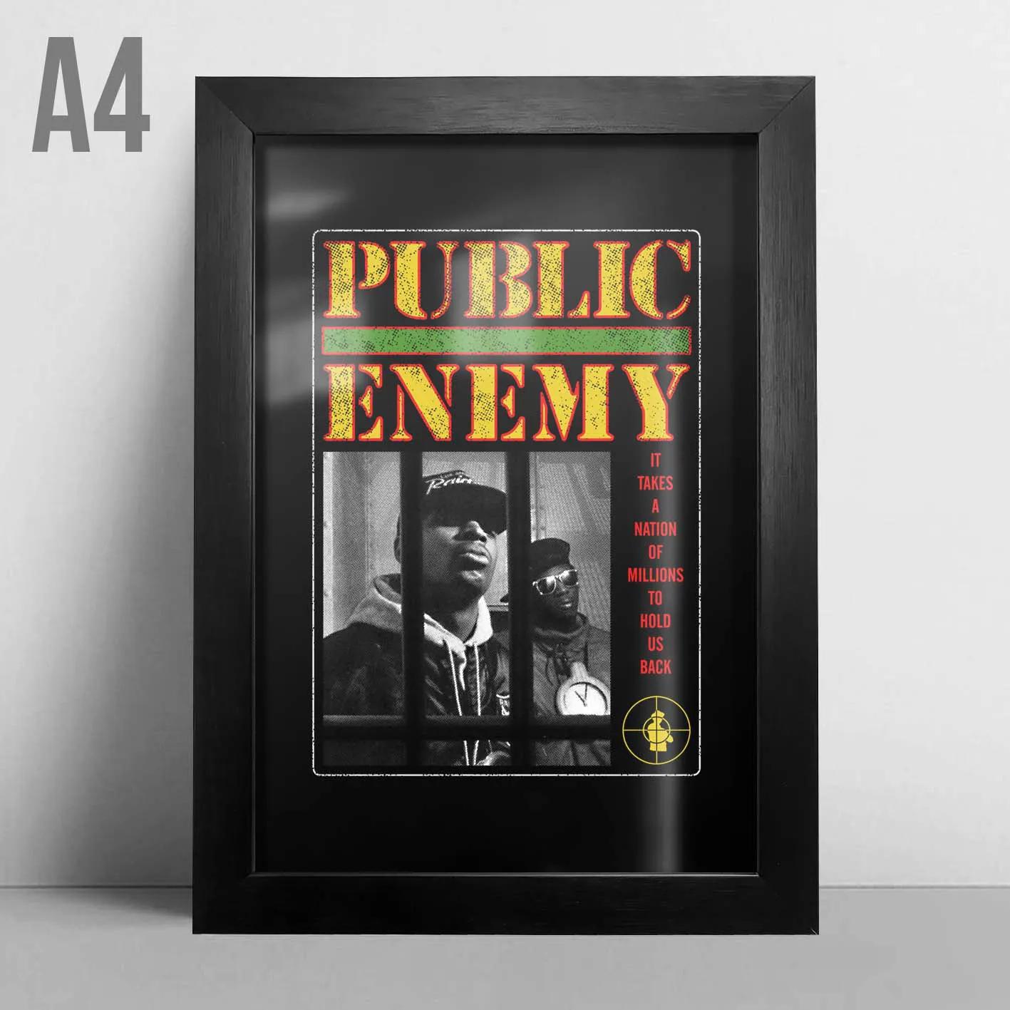 Quadro A4 - Public Enemy