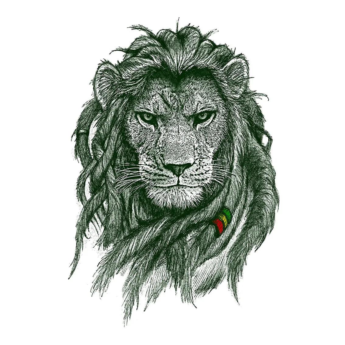 Quadro A4 - Rasta Lion