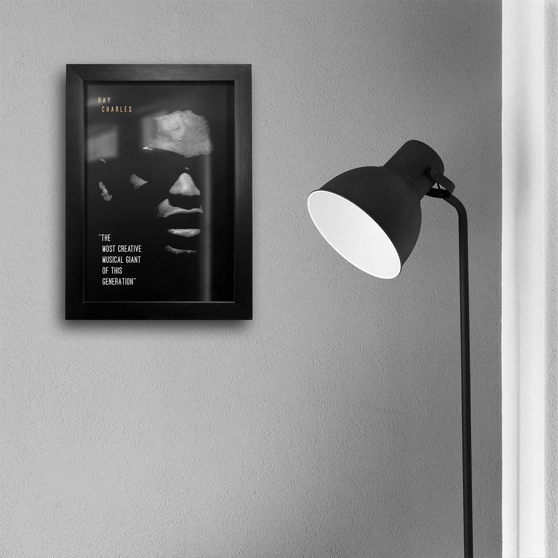 Quadro A4 - Ray Charles