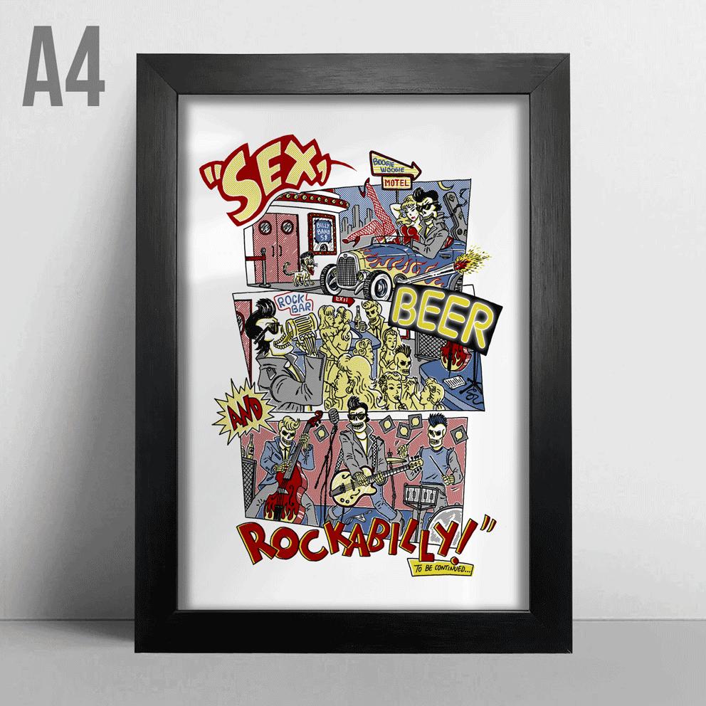 Quadro A4 - Rockabilly