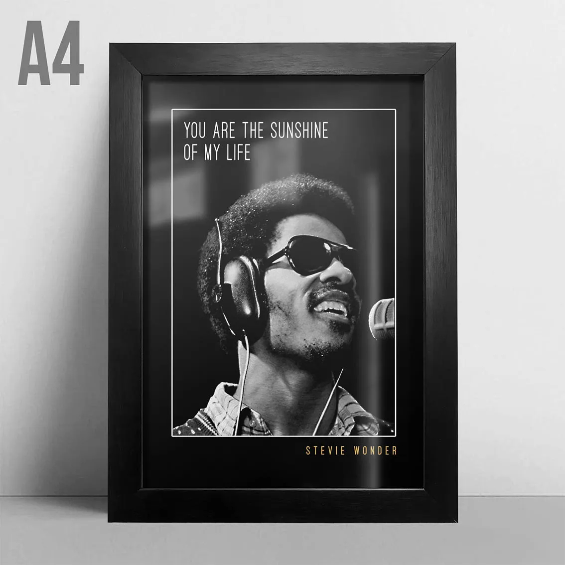 Quadro A4 - Stevie Wonder