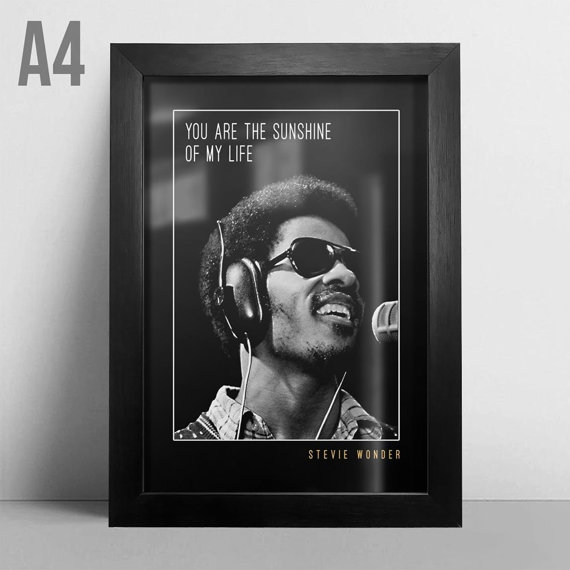 Quadro A4 - Stevie Wonder
