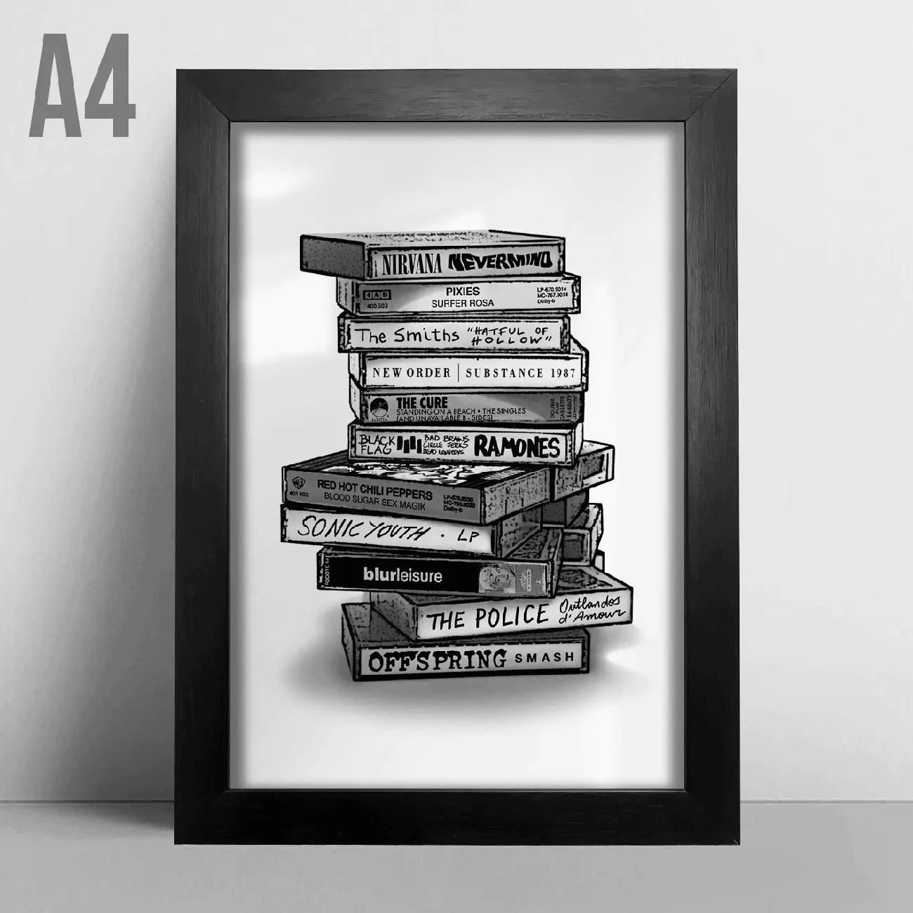 Quadro A4 - Tapes Rock BR
