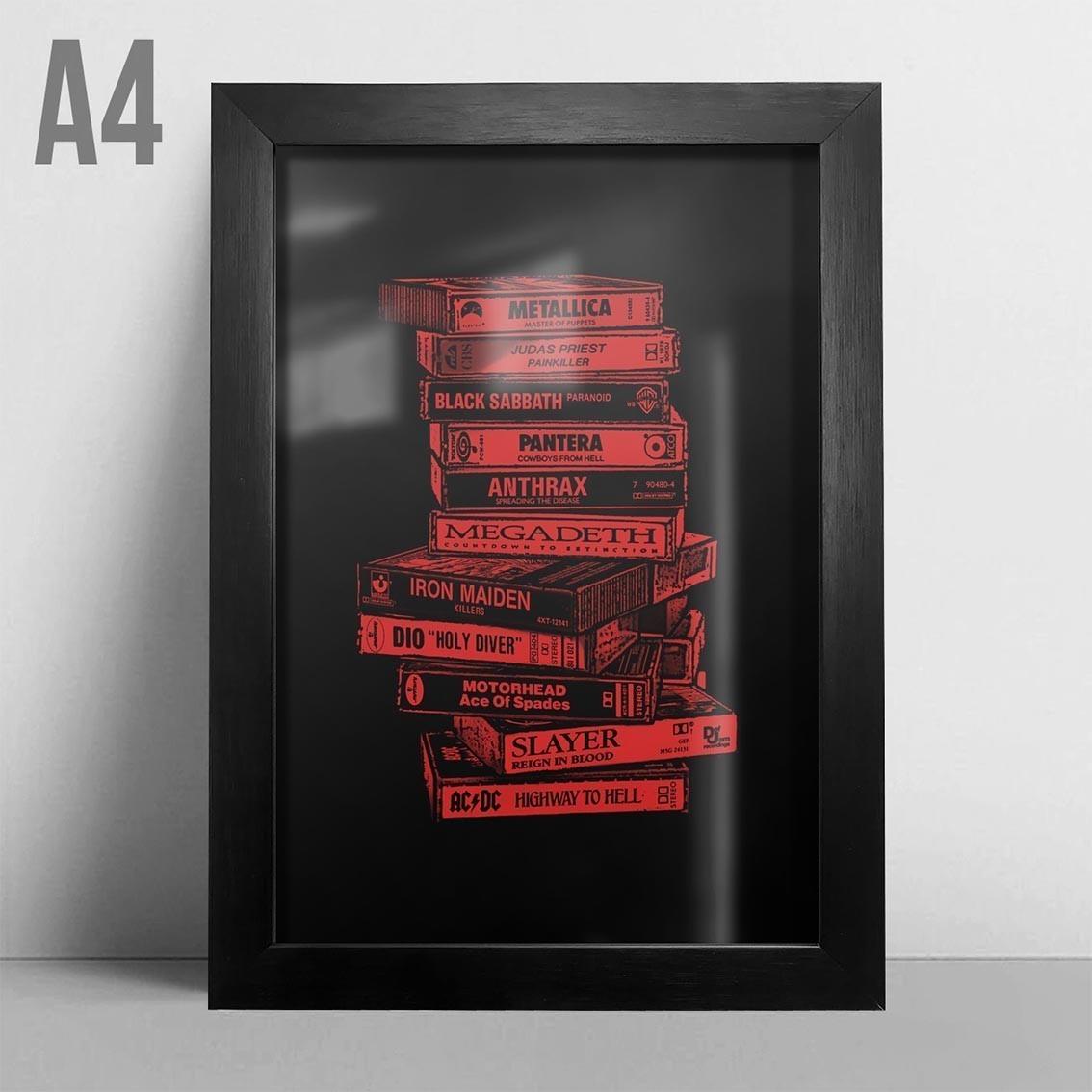 Quadro A4 - Tapes Metal