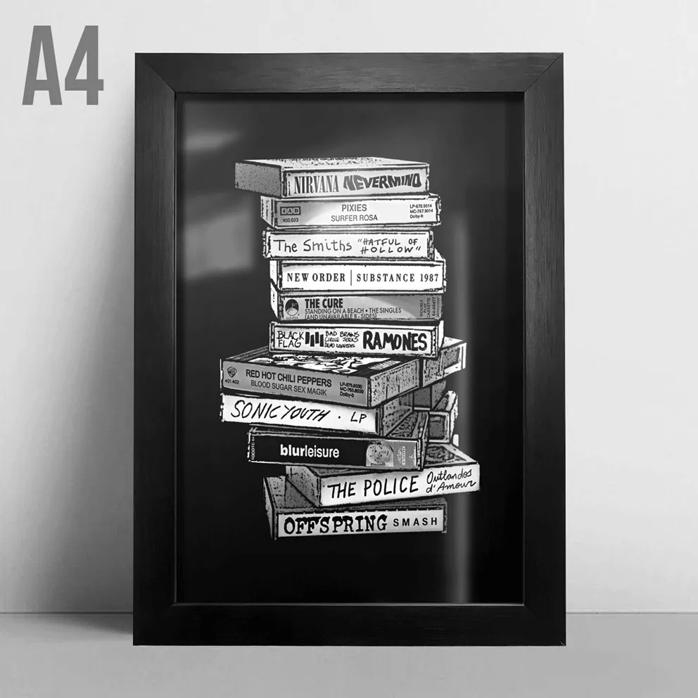 Quadro A4 - Tapes Rock PT