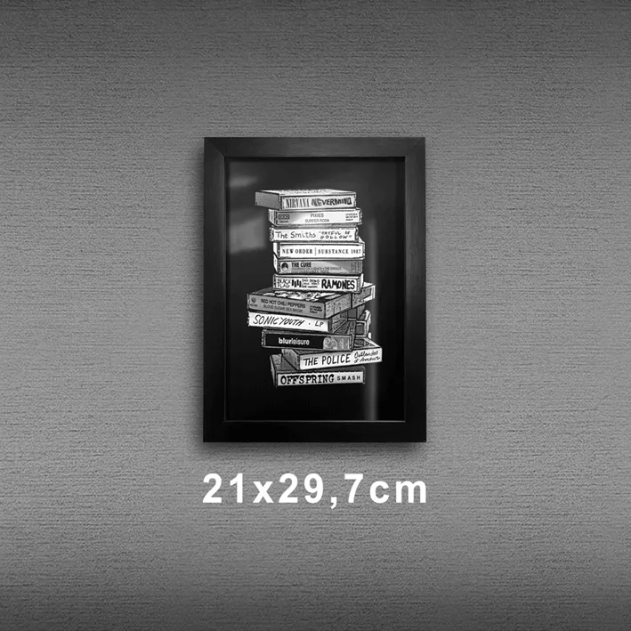 Quadro A4 - Tapes Rock PT