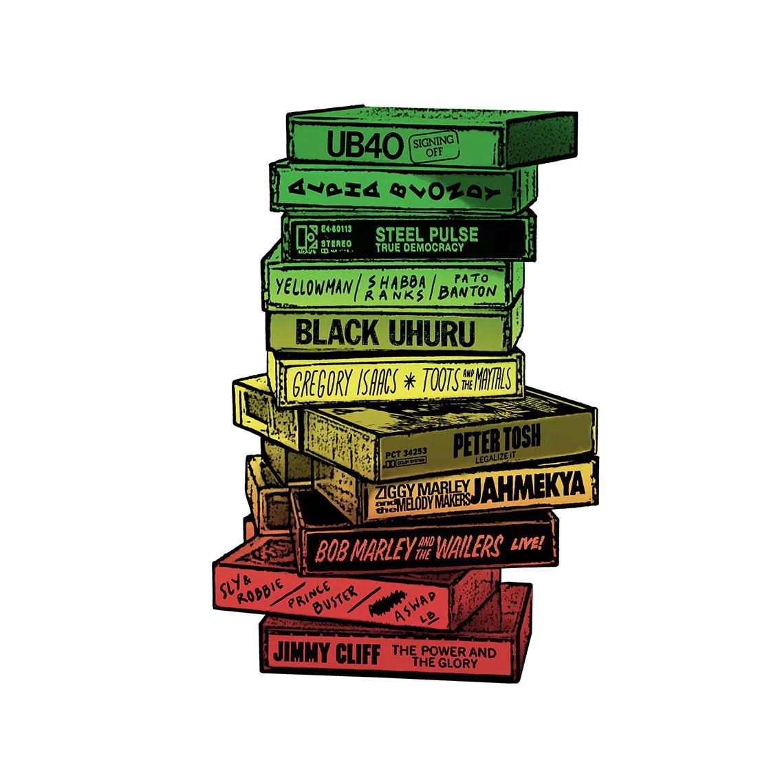 Quadro A4 - Tapes Reggae
