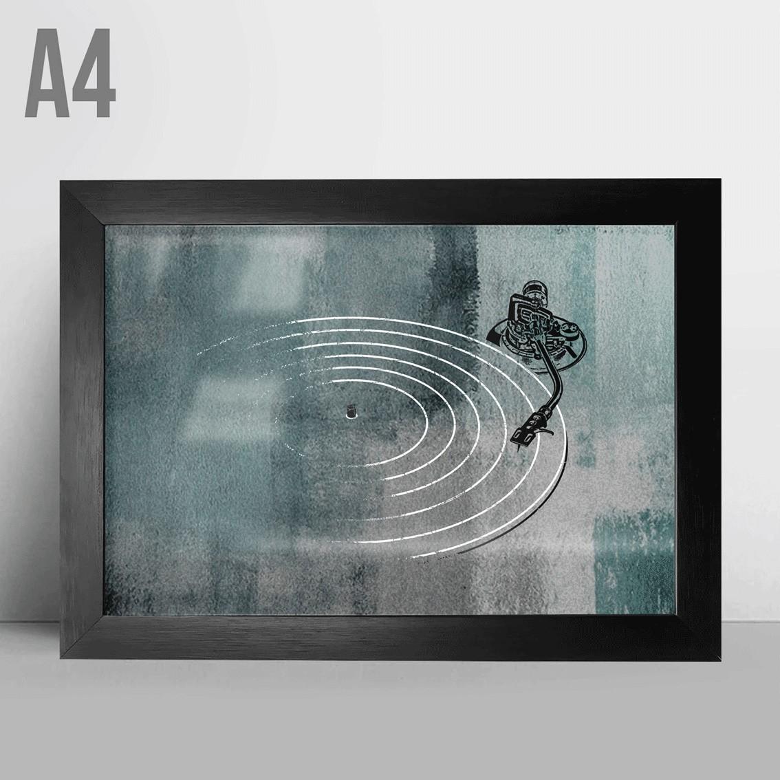 Quadro A4 - Toca discos