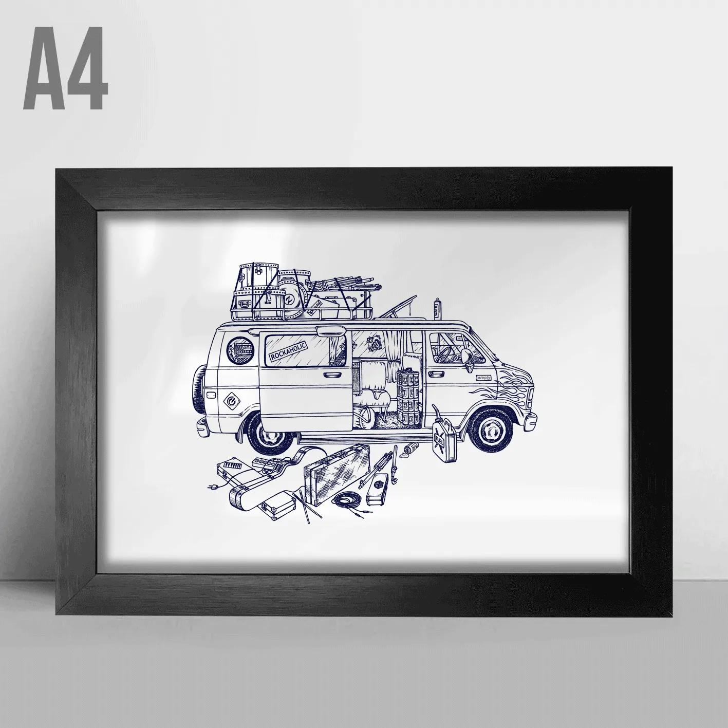 Quadro A4 - Van 80's