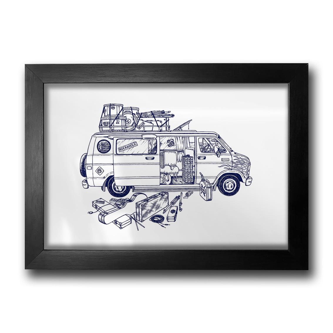 Quadro Van 80's