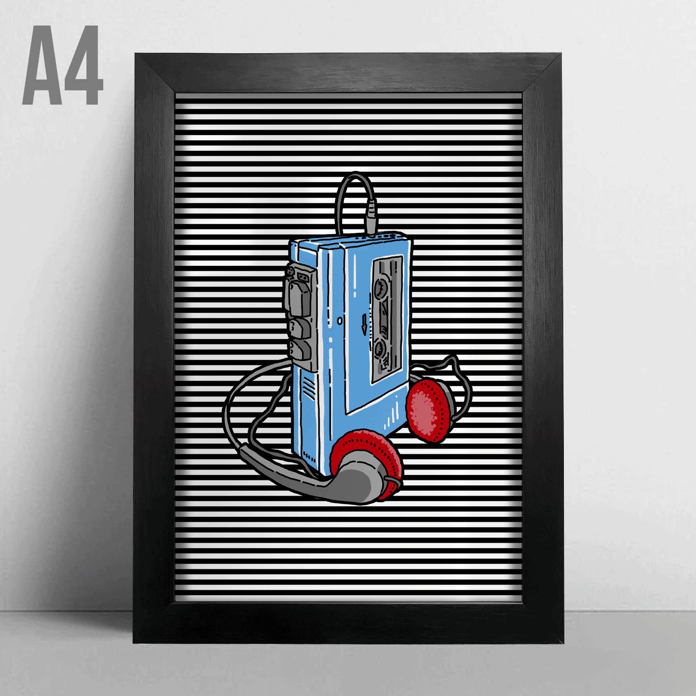 Quadro A4 - Walkman