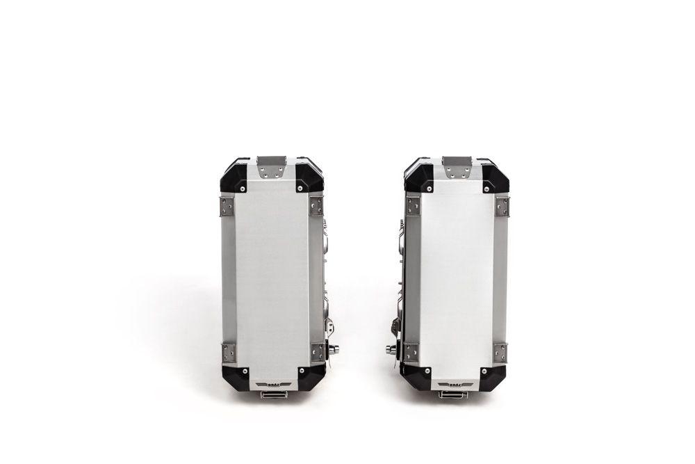 Bauletos Laterais Alumínio Escovado 33l