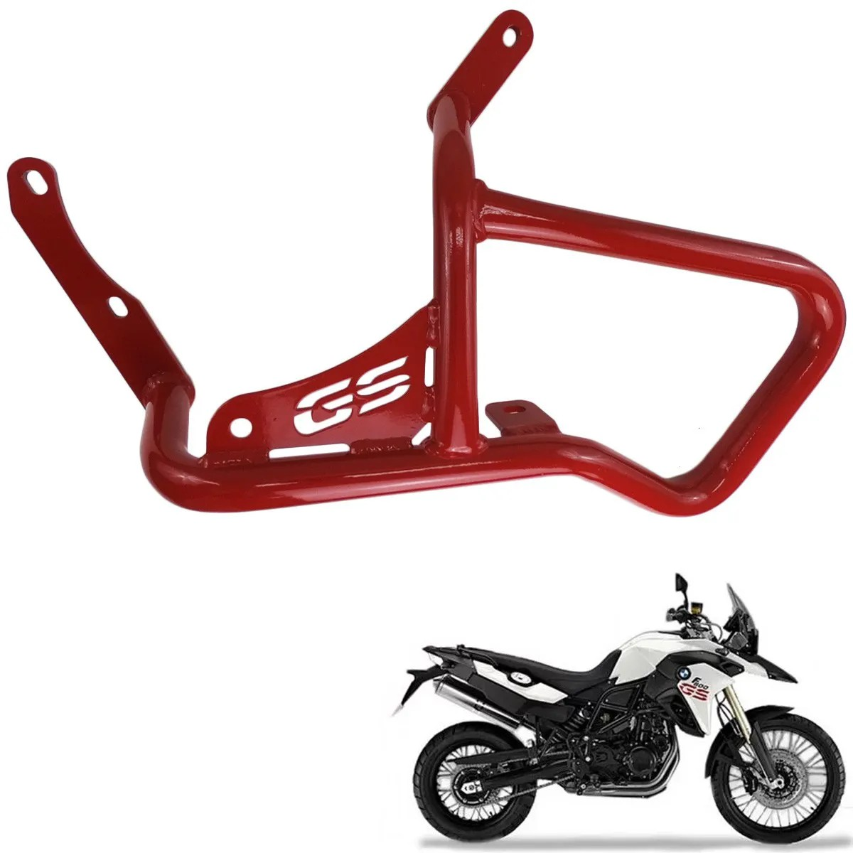 Protetor de Motor e Carenagem F 800 / 700 GS Vermelho Bráz